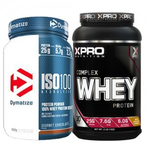 Стак 02 – Dymatize ISO 100 – 900 g (2 LB) + Xpro WHEY Complex Protein – 1 kg
