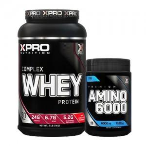 Стак 03 – Xpro WHEY Complex Protein – 1 kg + Xpro Premium AMINO 6000 – 200 таблетки