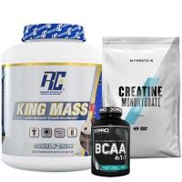 Стак 10 – RCSS – KING MASS XL – 2.75 kg (6 lb) + MYPROTEIN – CREATINE Monohydrate – 250 g  + Xpro BCAA 4:1:1 – 100 таблетки