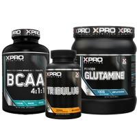 Стак 01 – Xpro BCAA 4:1:1 – 100 таблетки + Xpro TRIBULUS – 90 капсули + Xpro GLUTAMINE – 300 g
