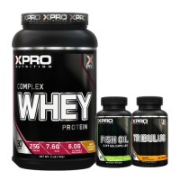 Стак 01 – Xpro WHEY Complex Protein – 1 kg + Xpro FISH OIL – 90 капсули + Xpro TRIBULUS – 90 капсули
