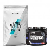 Стак 01 – MYPROTEIN – Impact Whey Protein – 1 kg + Xpro NOXPRO PRE-WORKOUT – 300 g