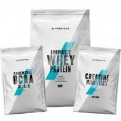 Стак 04 – MYPROTEIN – Impact Whey Protein – 2.5 kg + MYPROTEIN – Essential BCAA 2:1:1 – 250 g + MYPROTEIN – CREATINE Monohydrate – 250 g