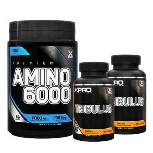 Стак 05 – Xpro Premium AMINO 6000 – 200 таблетки + Xpro TRIBULUS – 2 x 90 капсули (180 капсули)