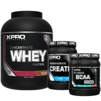 Стак 07 – Xpro WHEY Protein Concentrate – 2.28 kg + Xpro BCAA 8800 - 429 g + Xpro CREATINE Monohydrate - 500 g