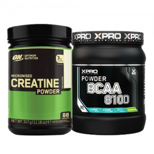 Стак 01 - ON CREATINE - 317 g  + Xpro BCAA 8100 - 429 g
