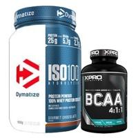 Стак 02 - Dymatize ISO 100 - 900 g + Xpro BCAA 4:1:1 - 100 таблетки