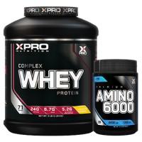 Стак 04 - Xpro WHEY Complex Protein - 2.28 kg + Xpro Premium AMINO 6000 - 200 таблетки