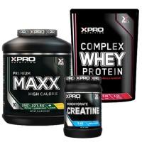 Стак 04 – Xpro Premium MAXX – 2,5 kg (5,5 LB) + Xpro WHEY Protein – 454 g + Xpro CREATINE Monohydrate – 500 g